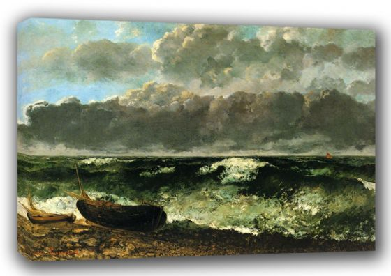 Courbet, Gustave: The Stormy Ocean. Fine Art Canvas. Sizes: A3/A2/A1 (001048)